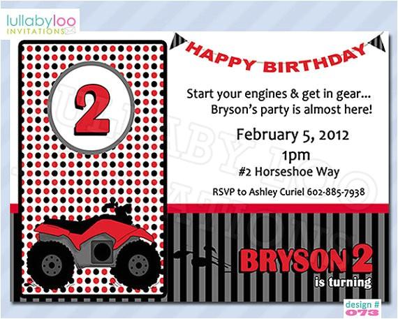 four wheeler birthday invitations 073