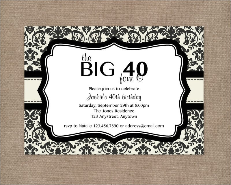 40th Bday Party Invites 8 40th Birthday Invitations Ideas and themes – Sample