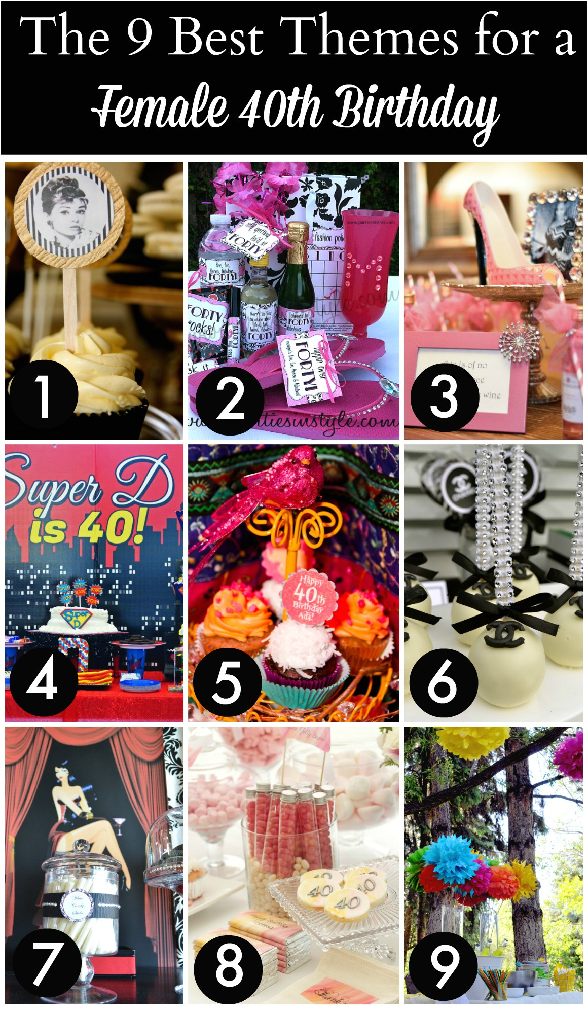 40th birthday party themes for women