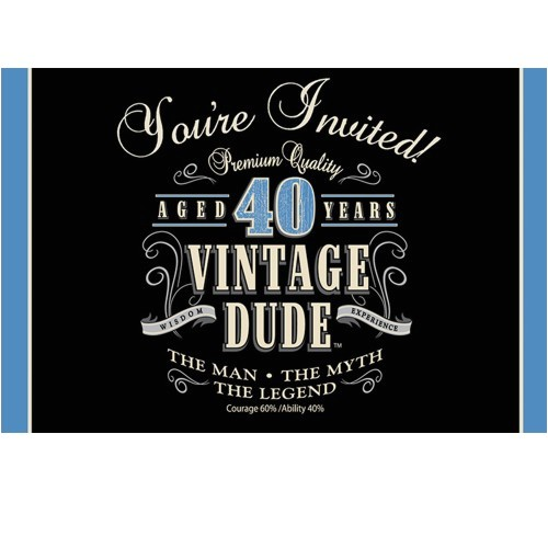 pd vintage dude 40th birthday party invitationsm