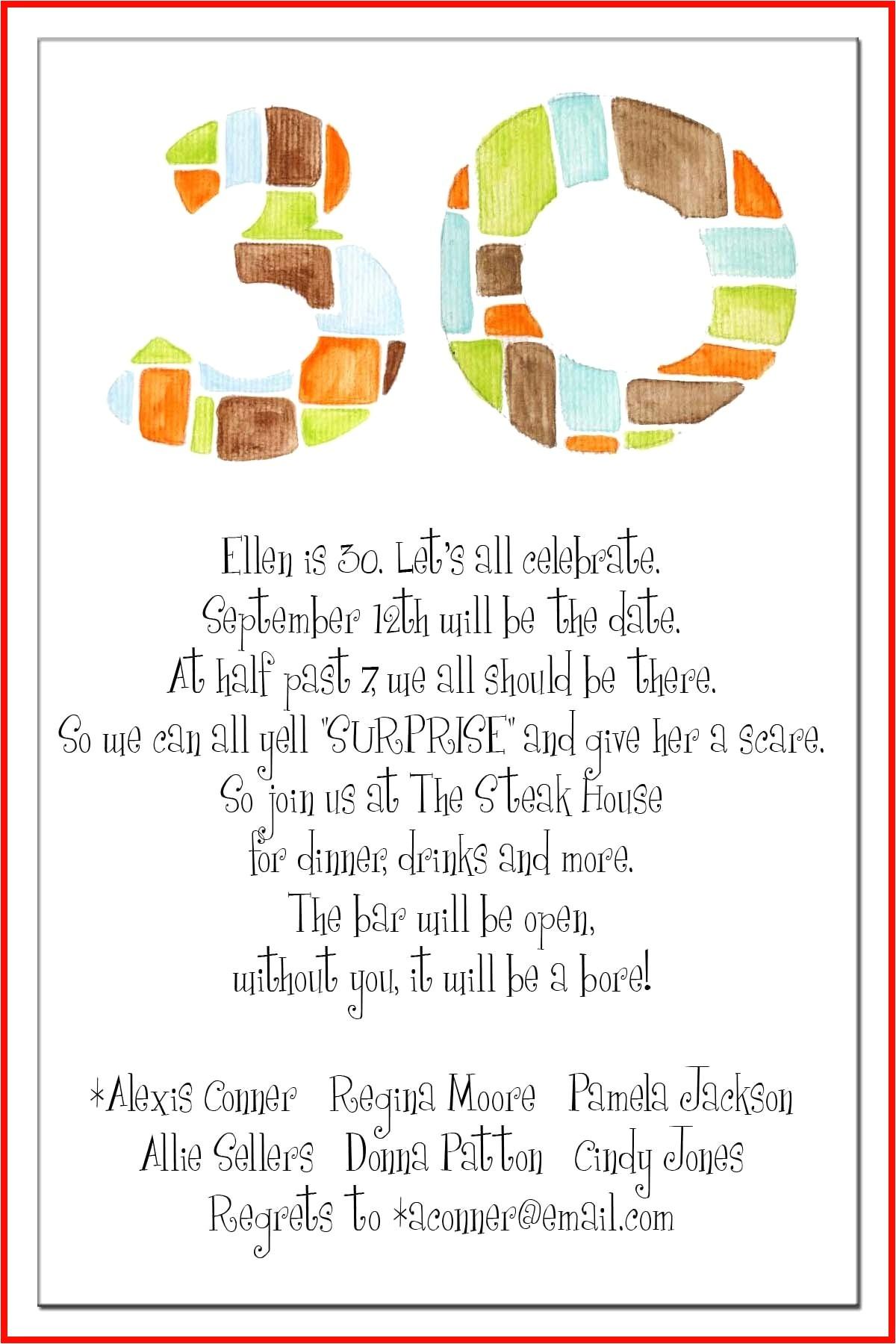 40th birthday party invitation wording funny