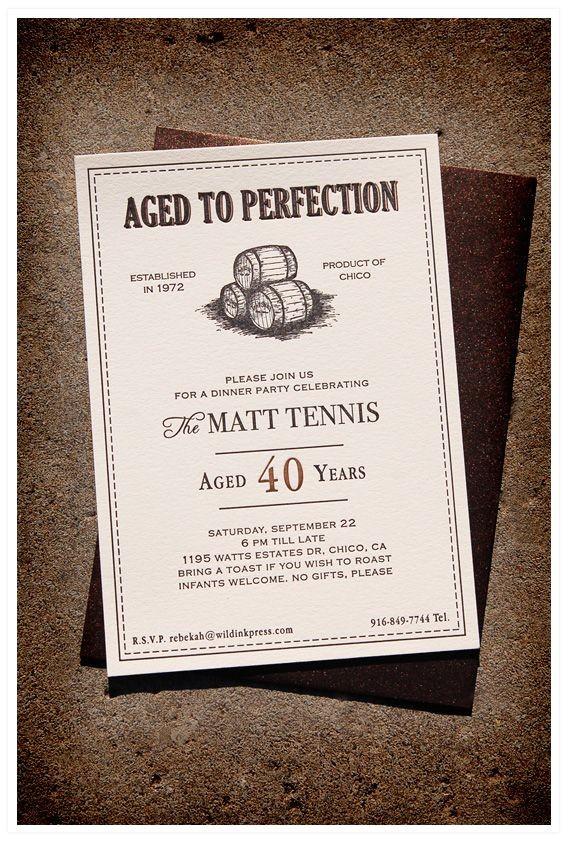 birthday invitation ideas for 40th