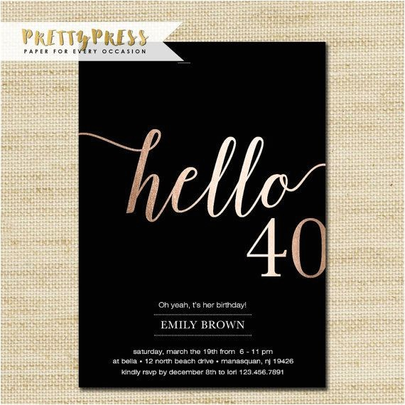40th birthday invitation 53820