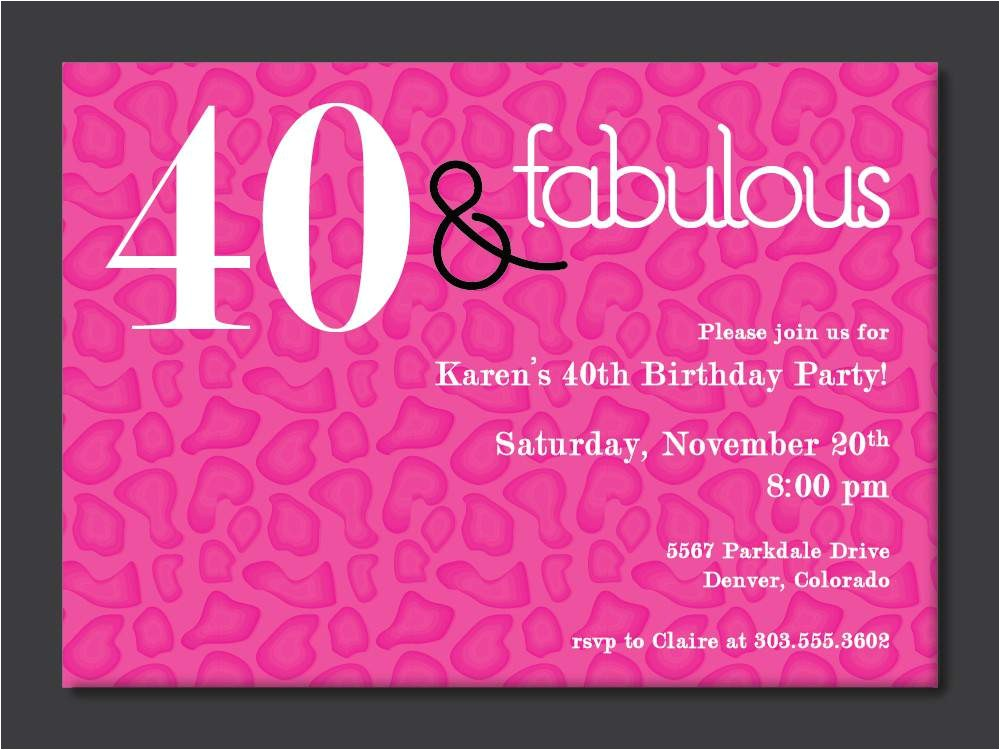 40th birthday invitations ideas
