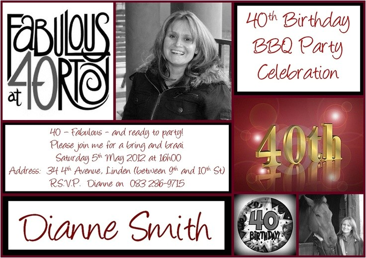 40th birthday invitations printable