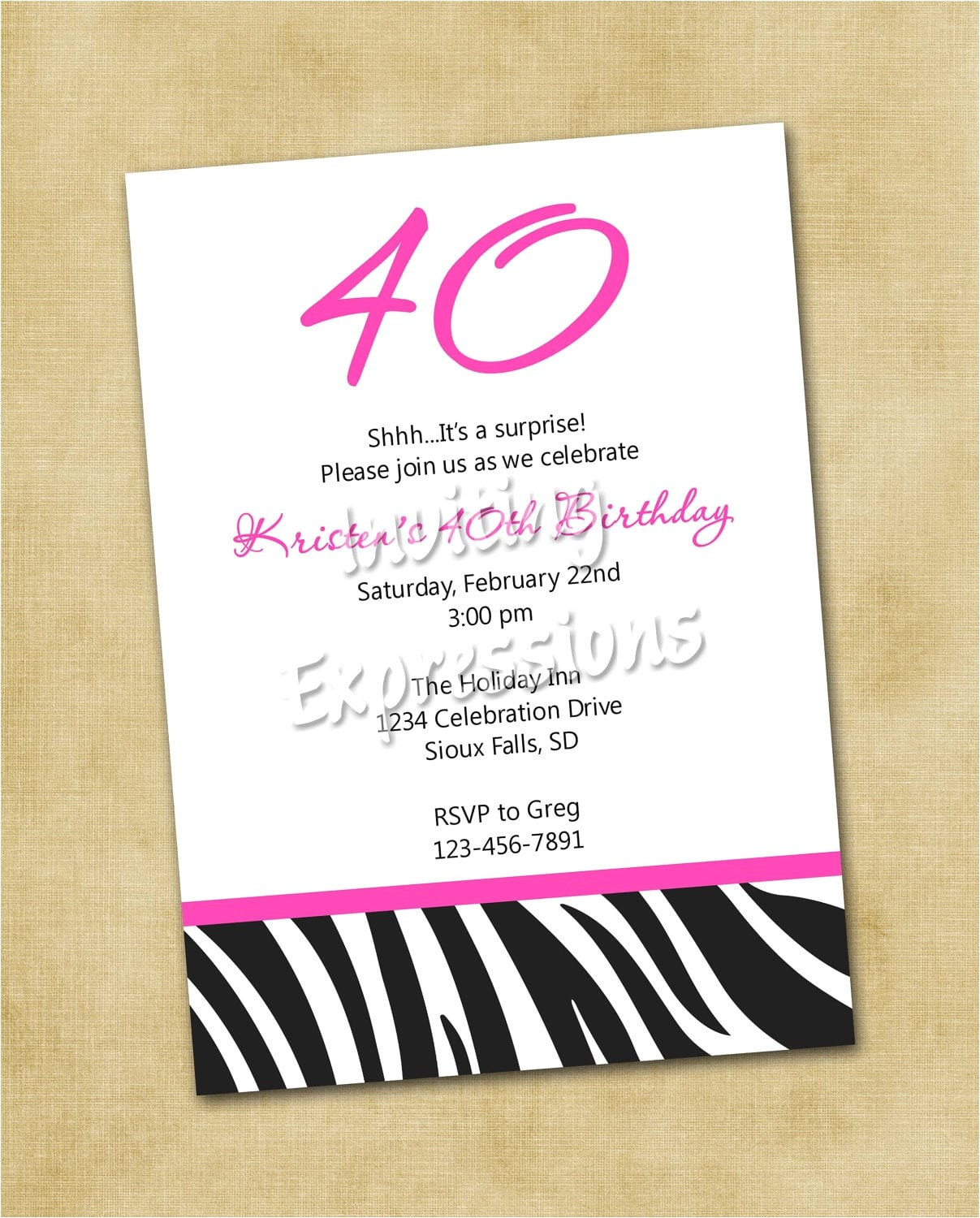 40th birthday party invitation wording funny
