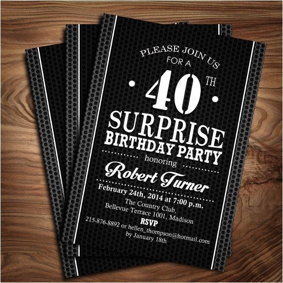 40th birthday invitations templates free