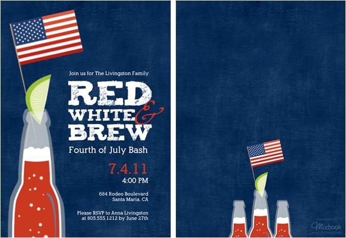 4th july birthday party invitations ideas