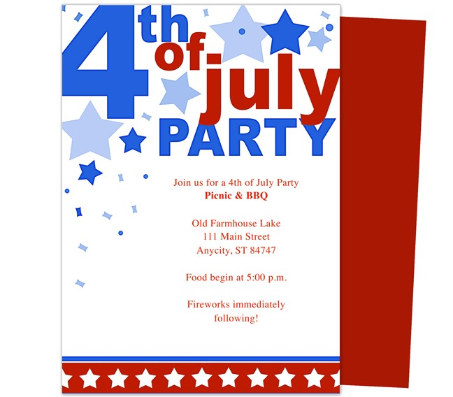 post 4th of july invitations templates printable free