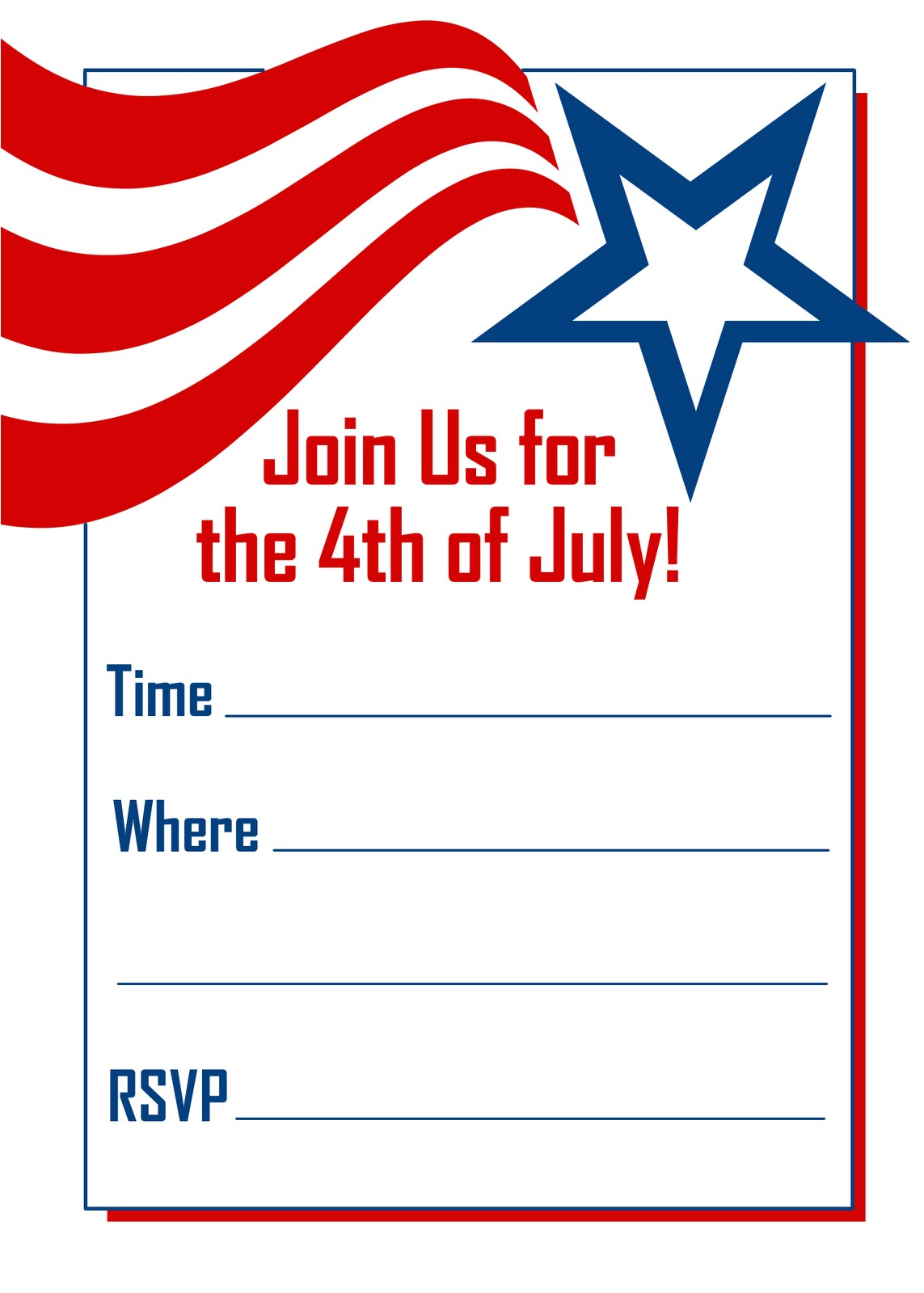 fourth of july invitations template