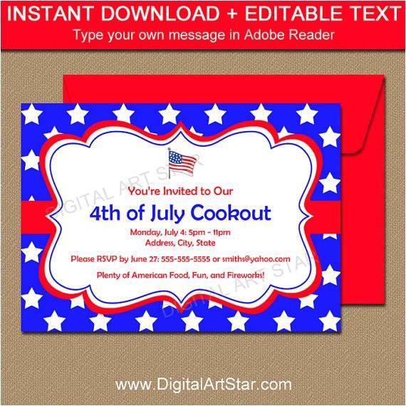 fourth july invitations july 4th invitations