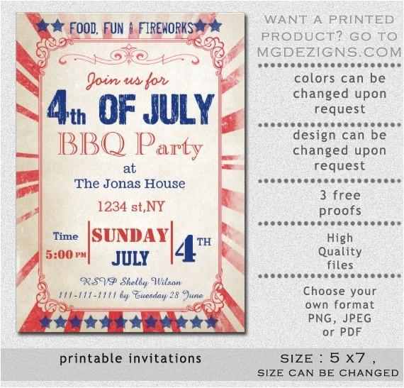 printable rustic vintage 4th of july