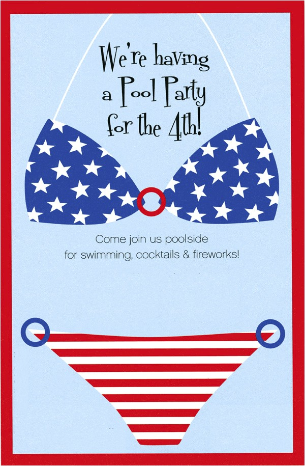patriotic pool party july 4th party planning ideas