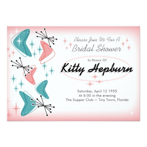fabulous 1950s bridal shower invitations 256653490081448544