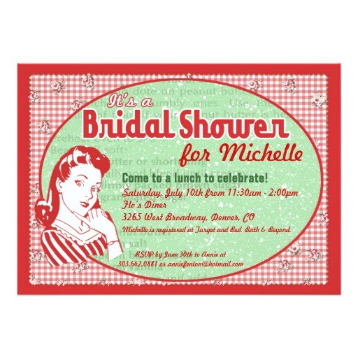 nifty 50s bridal shower invitation 161980573800830971