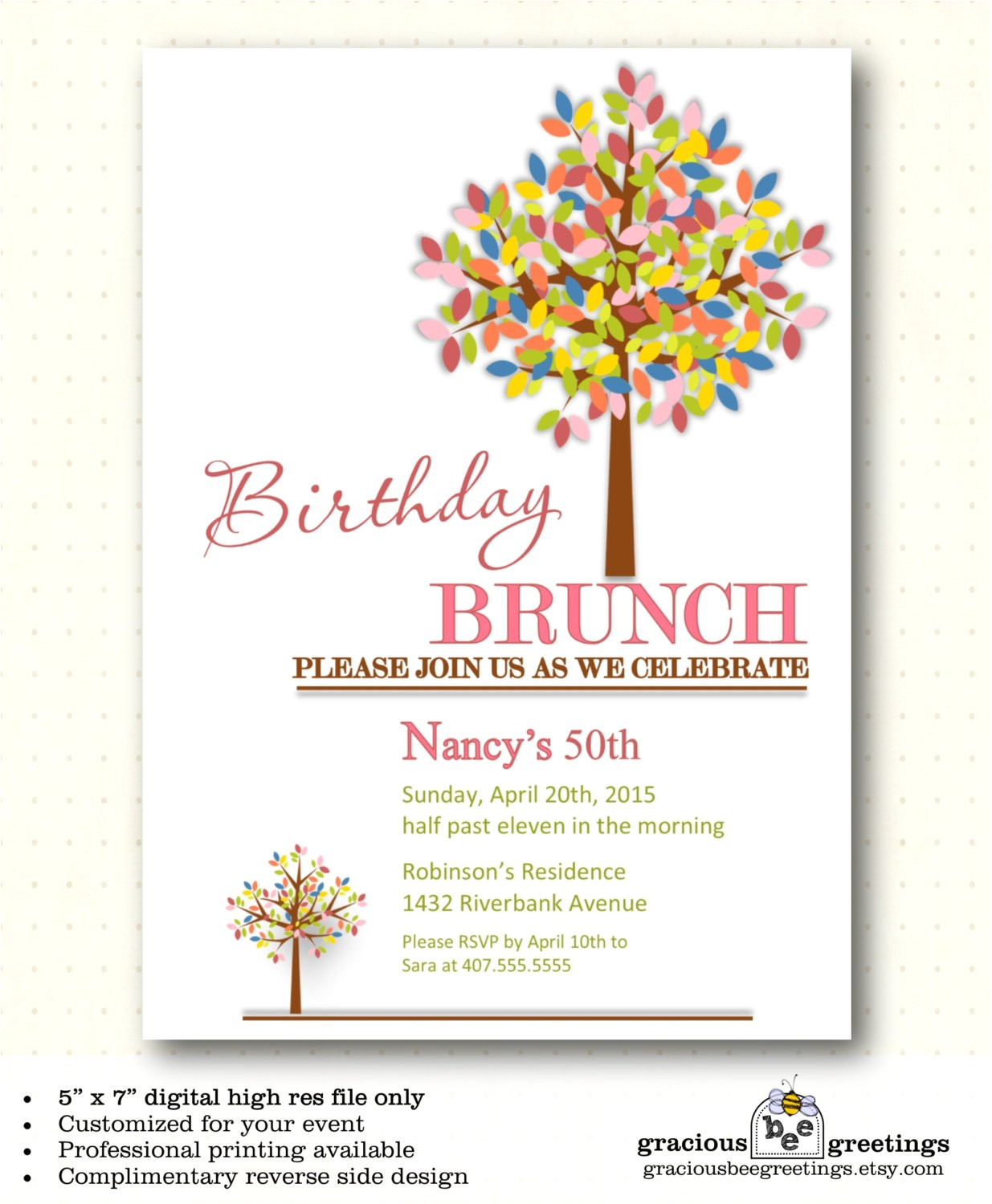 adult birthday party invitation