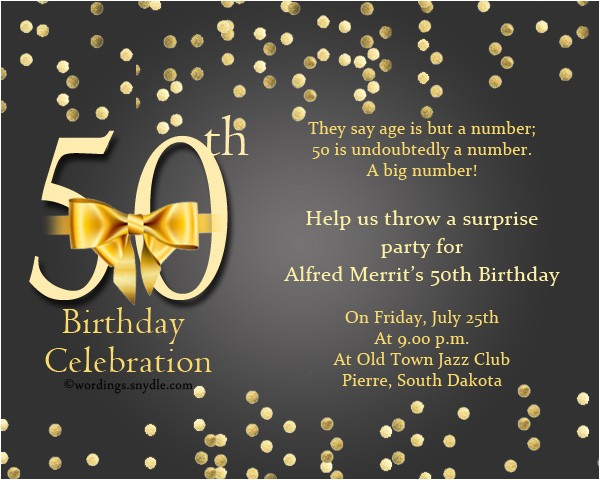 50th birthday invitation ideas