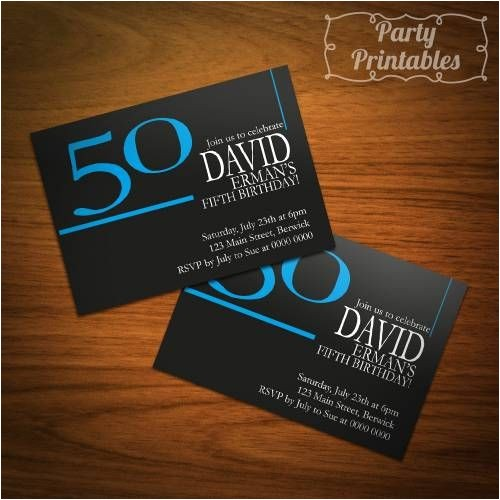 50th birthday invitations for him