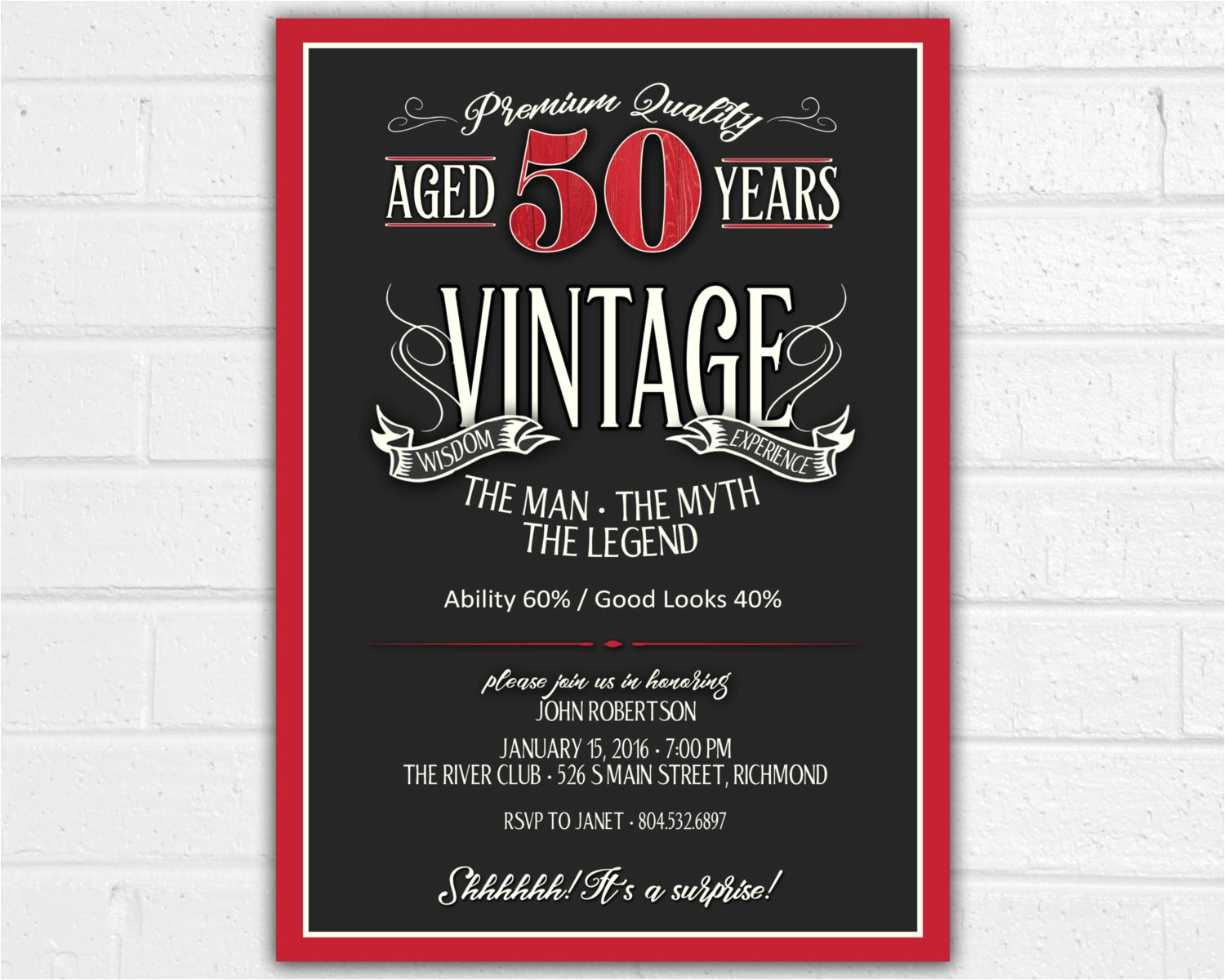 50th Birthday Invitation Ideas for Him How to Create 50th Birthday Invitations for Him Ideas