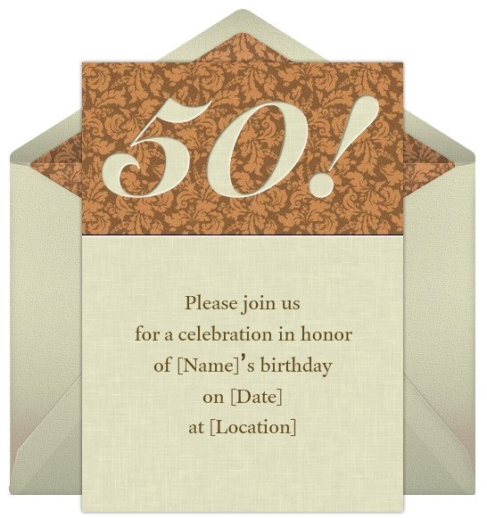 50th birthday invitation wording sample ideas