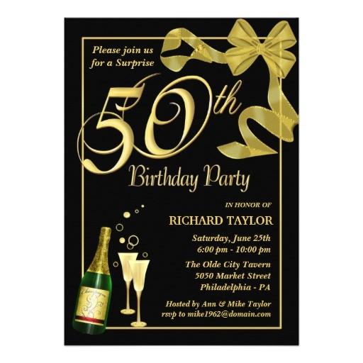 50th birthday quotes invitation