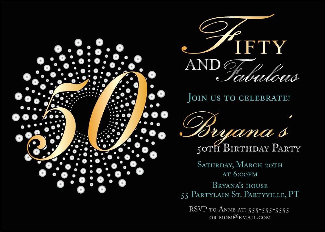 impressive 50th birthday party invitation template