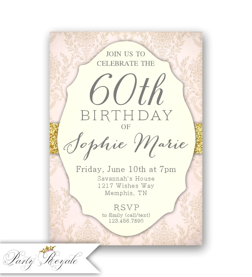 60th Birthday Brunch Invitations Elegant 60th Birthday Invitations Women 39 S 60th