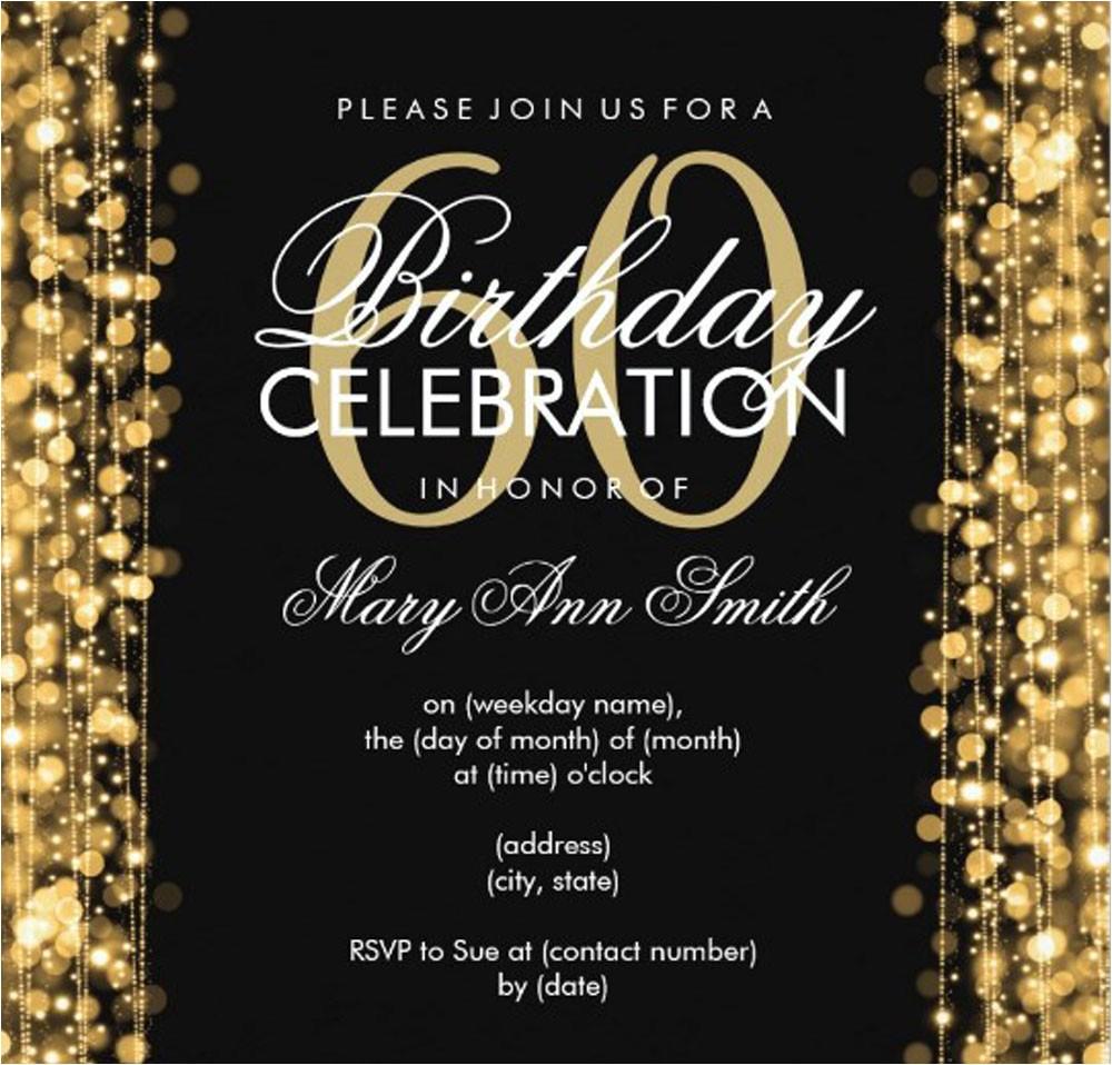 60th Birthday Invitation Ideas 20 Ideas 60th Birthday Party Invitations Card Templates