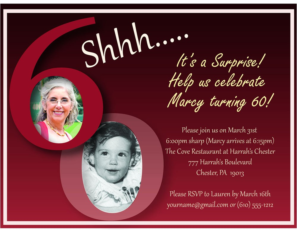 60th birthday party invitations