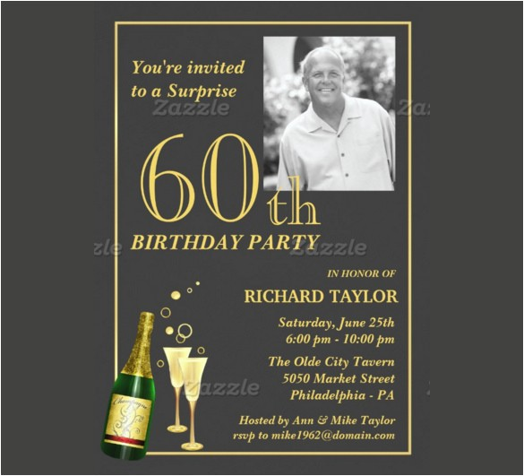 60th birthday invitations for him 70979