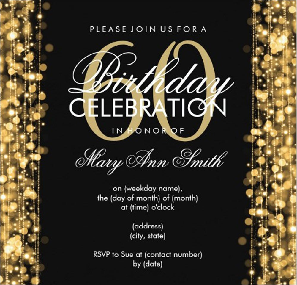 60th birthday party invitations