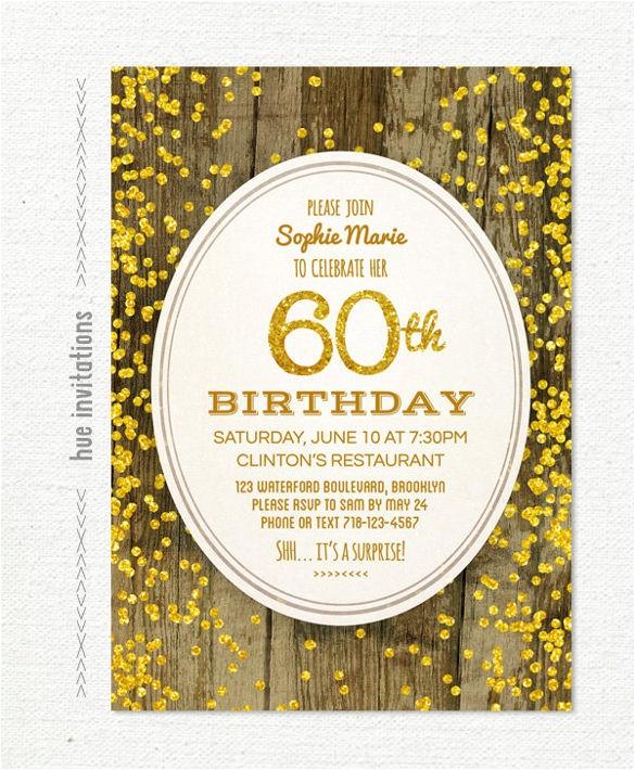 60th birthday invitation