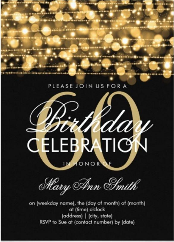 invitation template 60th birthday