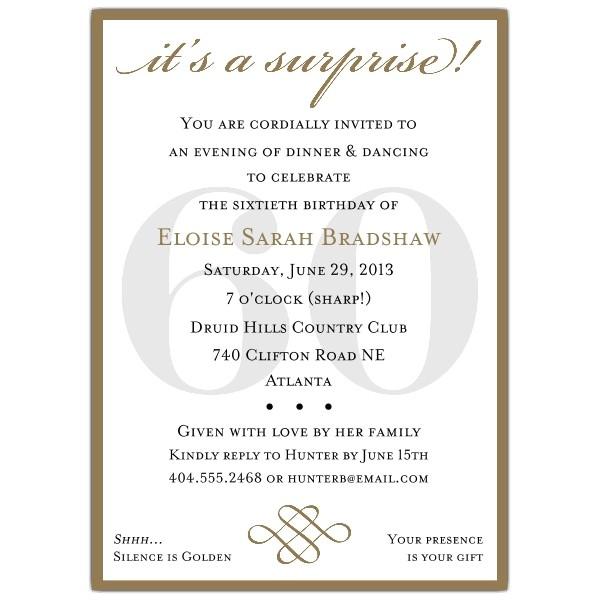 60th birthday invitation wording ideas