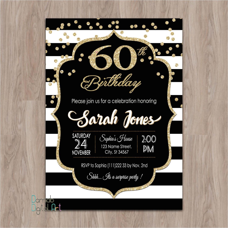 60th birthday invitations 60th birthday
