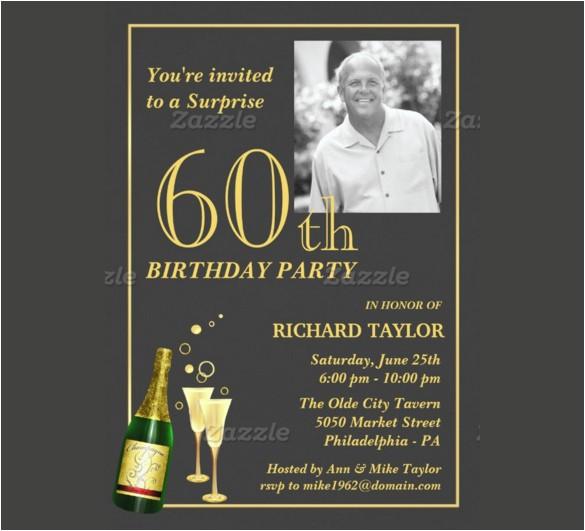 60th birthday invitations for him