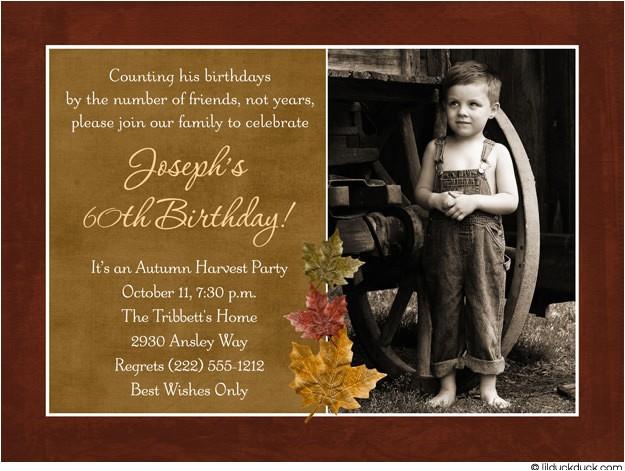 60th Birthday Invitations for Him 60th Birthday Invitations for Men – Bagvania Free