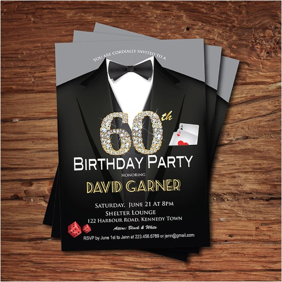60th birthday invitation adult
