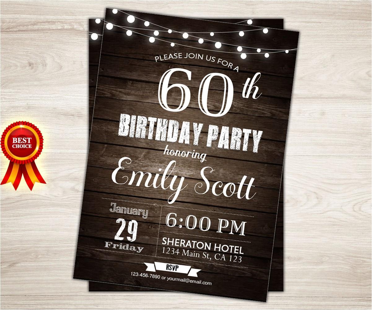 surprise 60th birthday invitation man