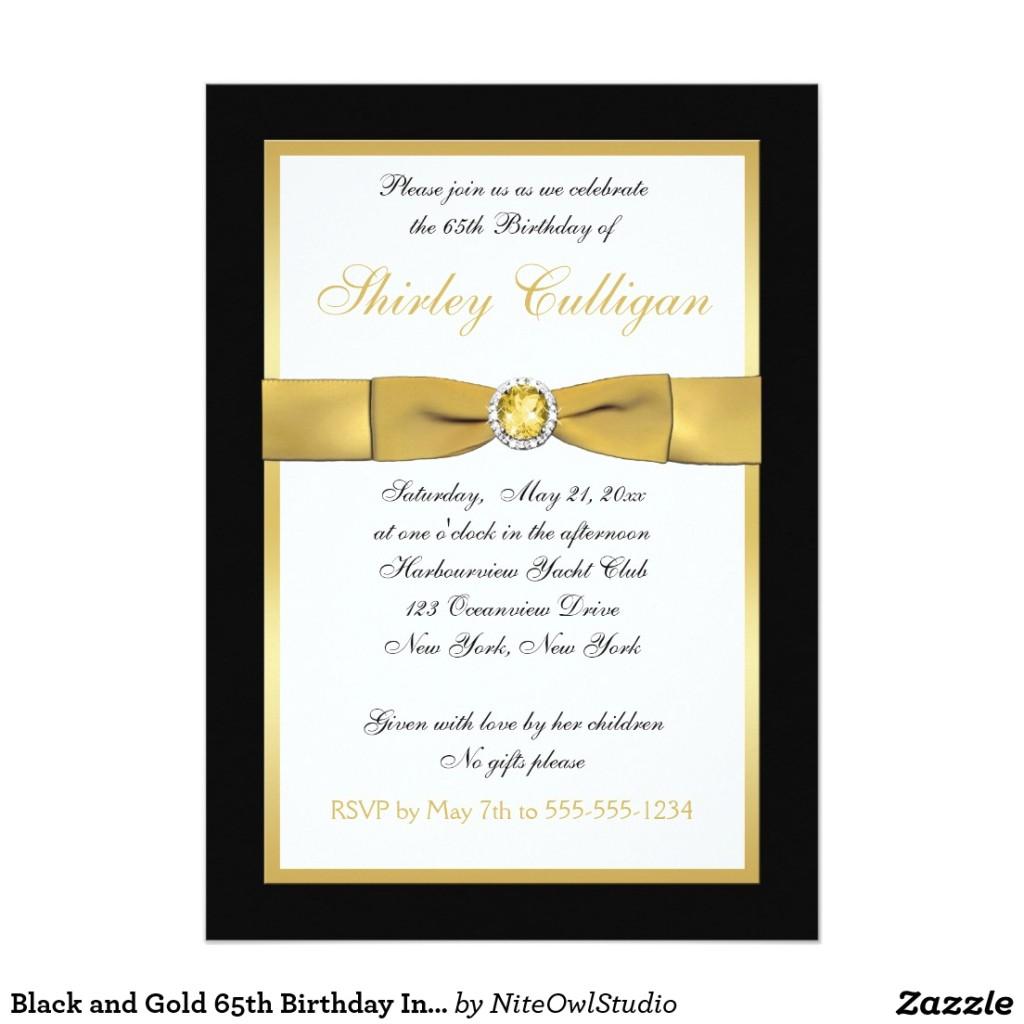 65th birthday invitation wording