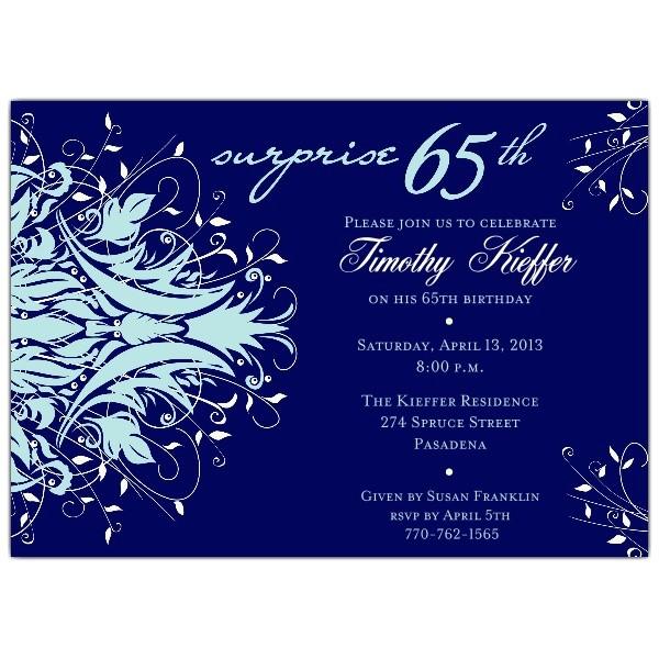 andromeda navy surprise 65th birthday invitations p 610 75 288b