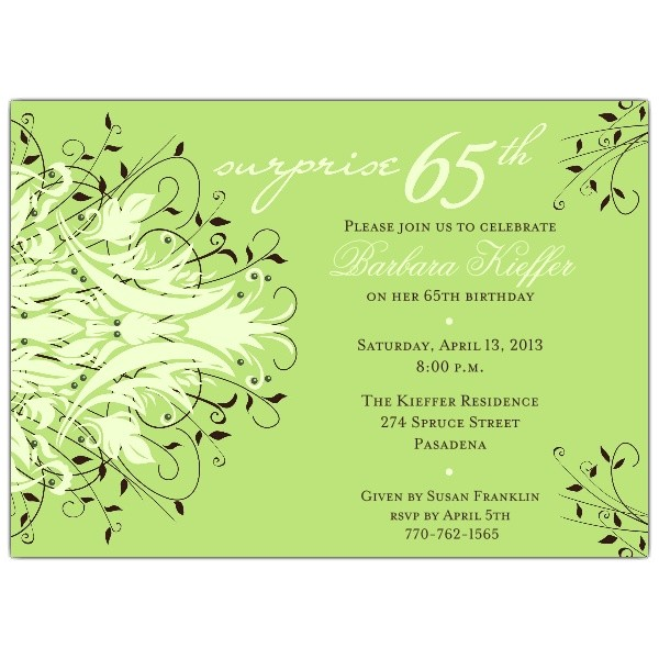 65th Birthday Invitation Verses andromeda Navy Surprise 65th Birthday Invitations Paperstyle