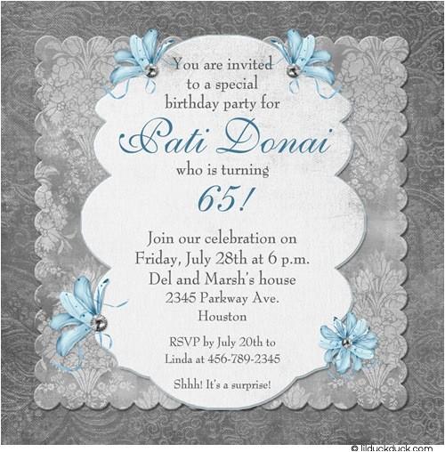 traditional memories birthday invitation