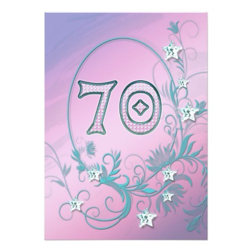 70 Year Old Birthday Invitations Birthday Party Invitation 70 Years Old