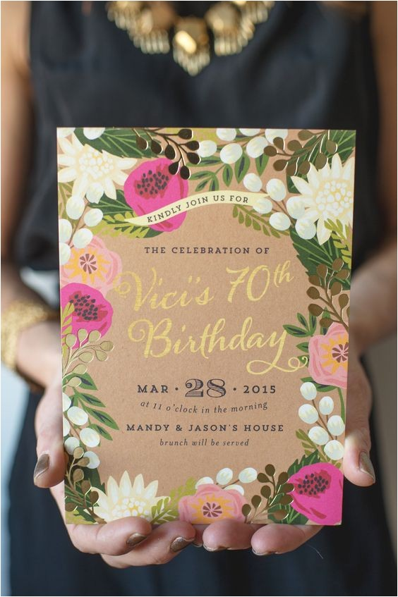 70th Birthday Brunch Invitations A Whimsical and Intimate Garden Brunch