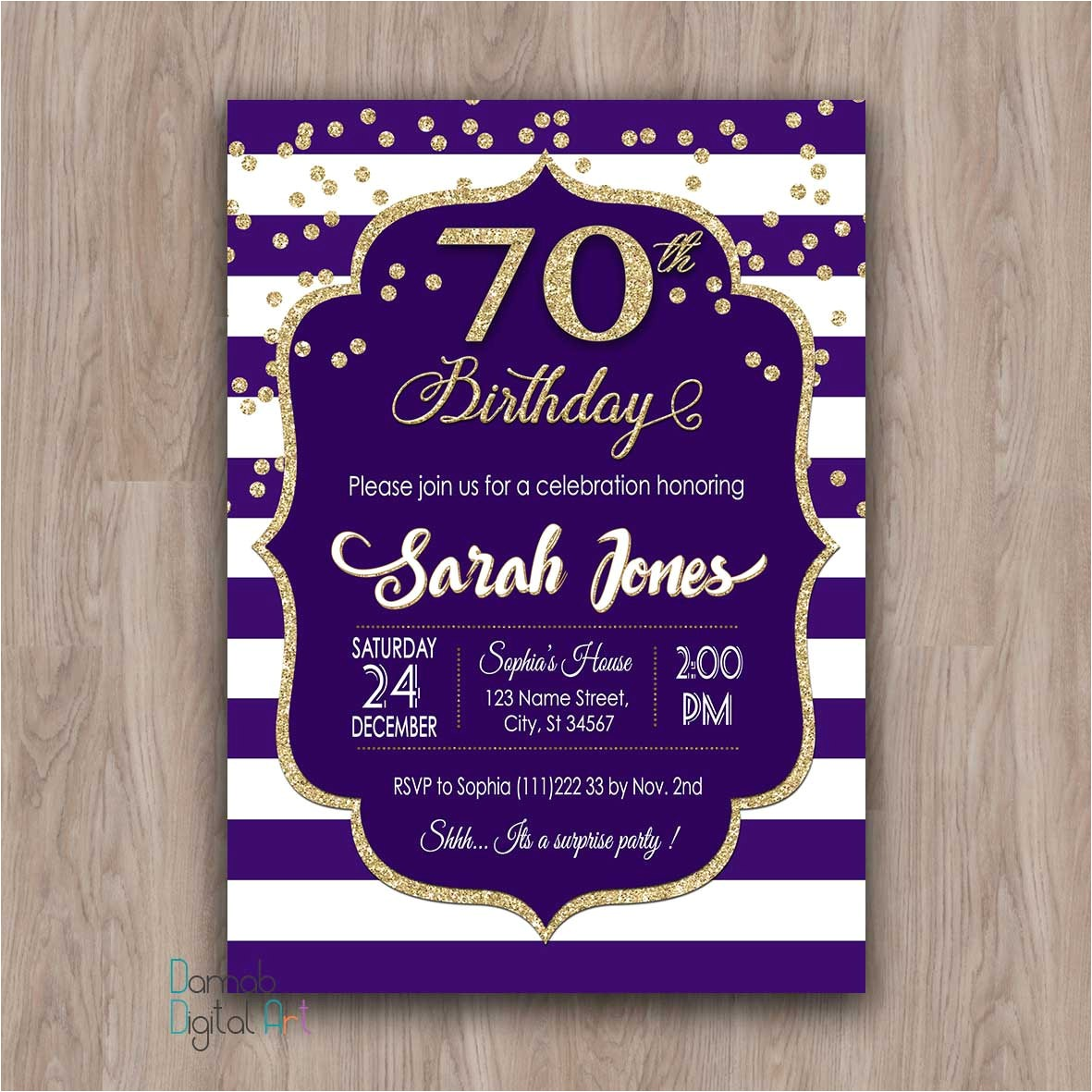 70th birthday invitation 70th birthday