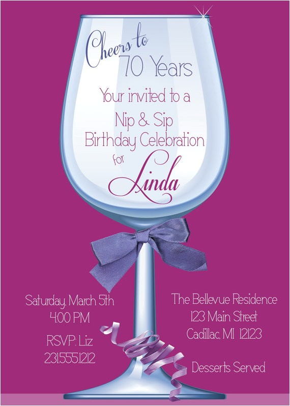 70th Birthday Invitations for Female Women S Birthday Party Invitation 70th Birthday by