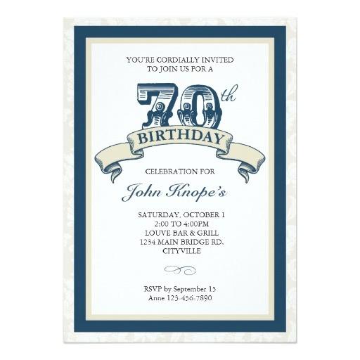 70th birthday invitation 161677145818618937