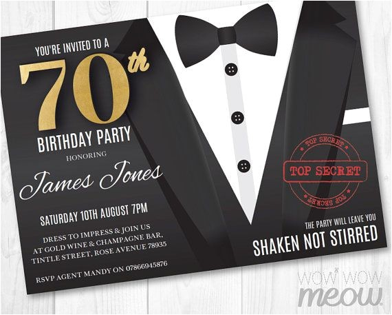james bond invitations