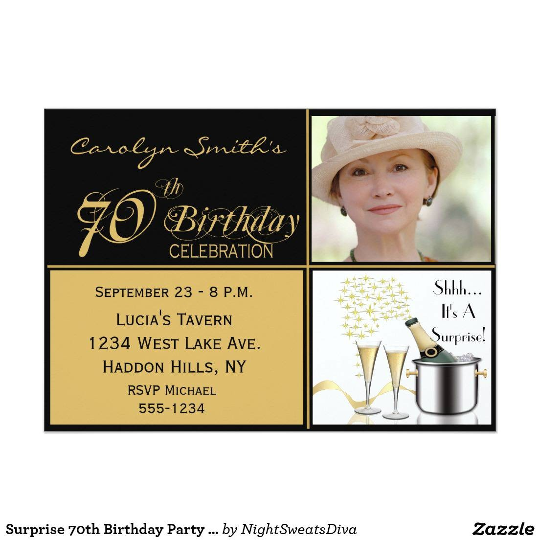 70th birthday party invitations